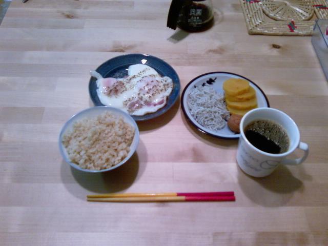 今日の朝飯