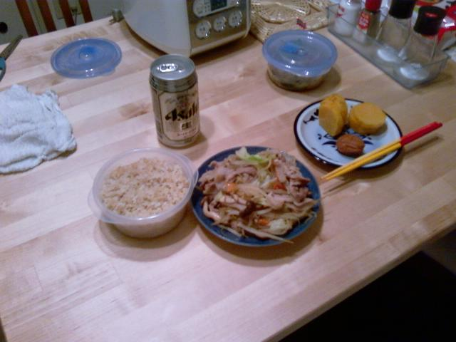 晩飯を作り過ぎた