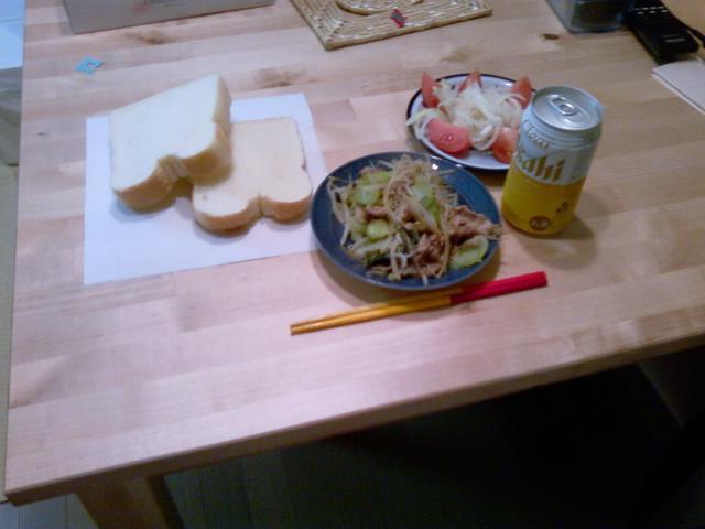 チンゲン菜と肉の炒め